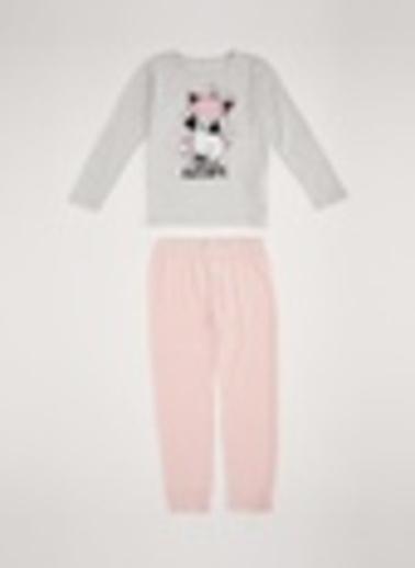 DeFacto Pijama Takım Gri